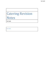 Preview of Catering Notes