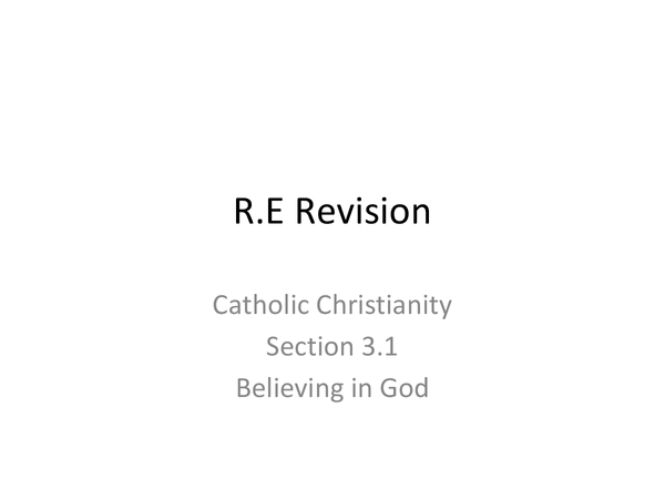 Preview of Catholic Christianity edexcel (3.1, 3.2)