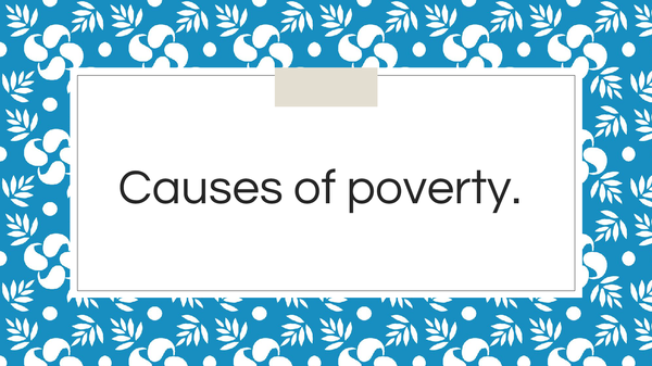Preview of Causes of poverty