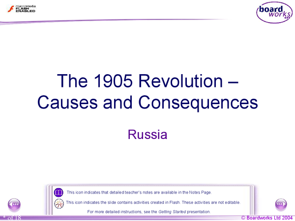 Preview of Causes and Consequences of the Russian Revolution 1905
