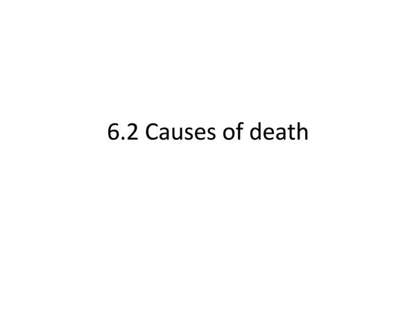 Preview of Causes of Death ppt