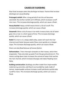 Preview of Causes of flooding