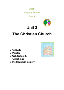 Preview of CCEA R.E 3.3 The Revalation of God and the Christian Church (part 3))