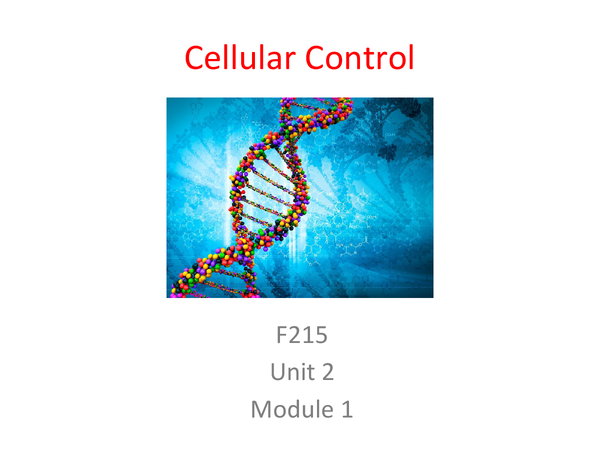 Preview of Cellular Control Unit 2 Module 1 Revision