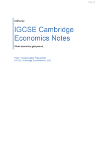 Preview of CGPwned: Your Cambridge IGCSE Economics Notes!