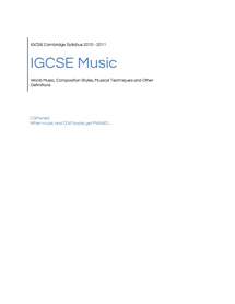 Preview of CGPwned: Your Cambridge IGCSE Music Notes!