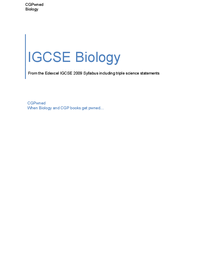 Preview of CGPwned: Your Edexcel IGCSE Biology Notes!