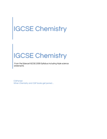 Preview of CGPwned: Your Edexcel IGCSE Chemistry Notes!