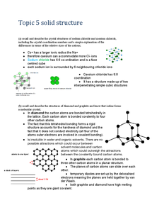 Preview of CH2 topic 5 Solid structure and smart materials