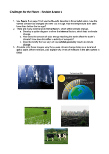 Preview of Challenges for the Planet - GCSE Geography Revision Lesson 1