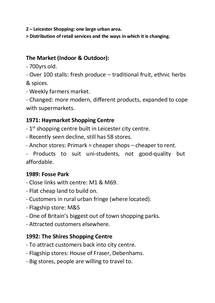 Preview of Changes in Shopping (Leicester) - Case Study