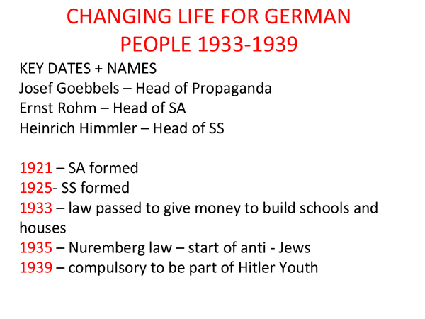 Preview of changing life for germany people part a