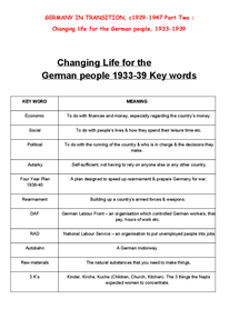 Preview of Changing life for the German people, 1933-1939 Part 2