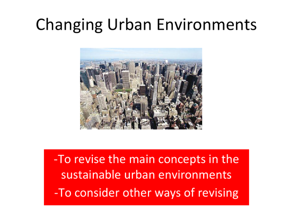 Preview of changing urban environments