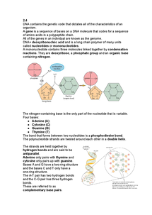 Preview of Chapter 2.4 Revision Notes- How is the CFTR protein made?
