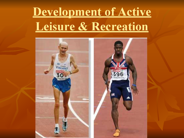 Preview of Chapter 1 Leisure& Recreation
