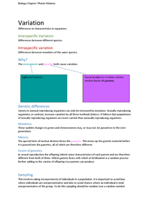 Preview of Chapter 7 Variation (AQA) Revision Notes