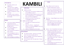 Preview of Character Analysis - Kambili