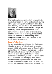 Preview of charles darwin