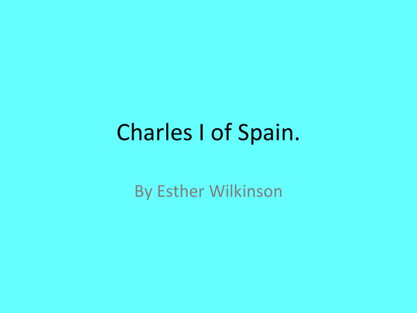 Preview of Charles I of Spain.