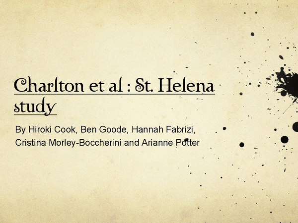 Preview of Charlton's Case study St.Helena
