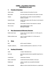 Preview of Chem 1 defininitions