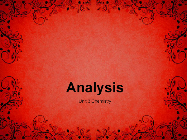 Preview of Chemical Analysis PowerPoint