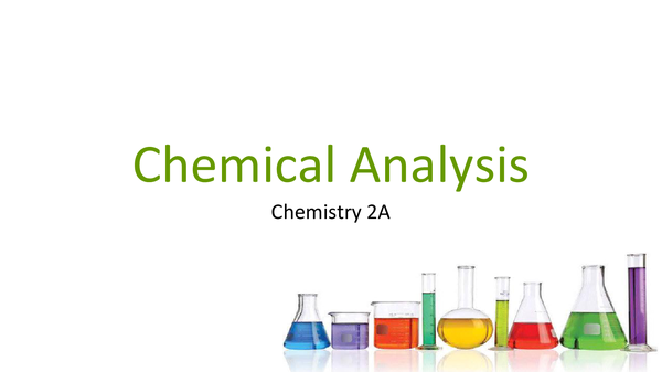 Preview of Chemical Analysis and Instrumental Methods
