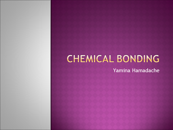 Preview of Chemical Bonding - AS Chemistry