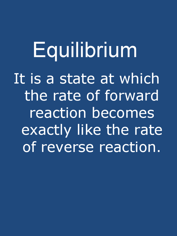 Preview of Chemical Equilirium