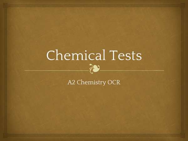 Preview of Chemical tests