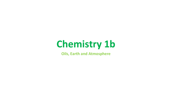 Preview of Chemistry 1b