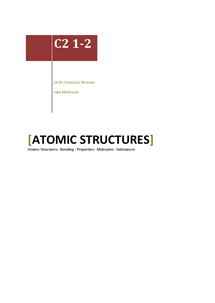 Preview of Chemistry 2: Chapters 1 & 2 (Atomic Structures)