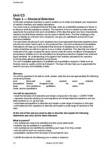 Preview of Chemistry 3 (C3) Edexcel Crib Sheet