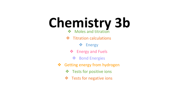Preview of Chemistry 3b