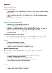 Preview of Chemistry AQA GCSE revision Unit 1 C1