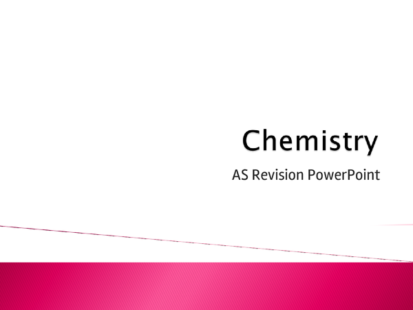 Preview of Chemistry AQA Unit 1 and 2 PowerPoint