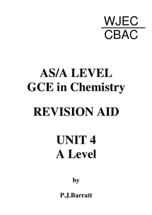 Preview of Chemistry Unit 4 Revision Guide