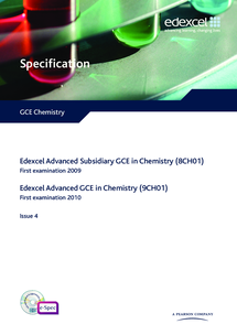 Preview of Chemistry EDEXCEL specification from 2008