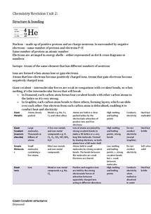 Preview of Chemistry GCSE C2 Revision Unit 2