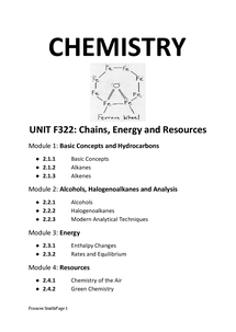 Preview of chemistry notes f322