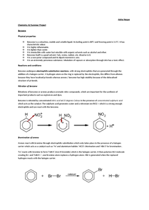 Preview of Chemistry OCR - A2 Benzene and Phenols