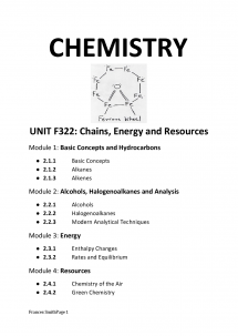 Preview of Chemistry OCR F322 notes
