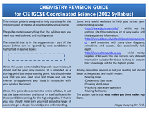 Preview of Chemistry Revision Pack - PDF