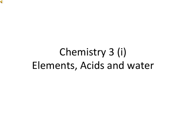 Preview of Chemistry Three