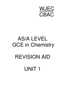 Preview of Chemistry Unit 1 Revision Guide
