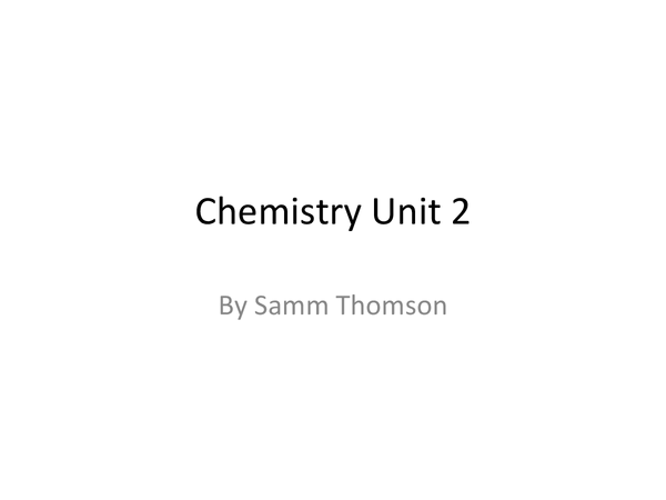 Preview of AS Level Chemistry Unit 2 AQA