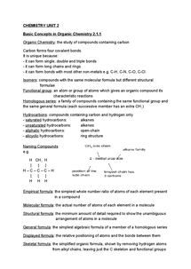 Preview of CHEMISTRY UNIT 2