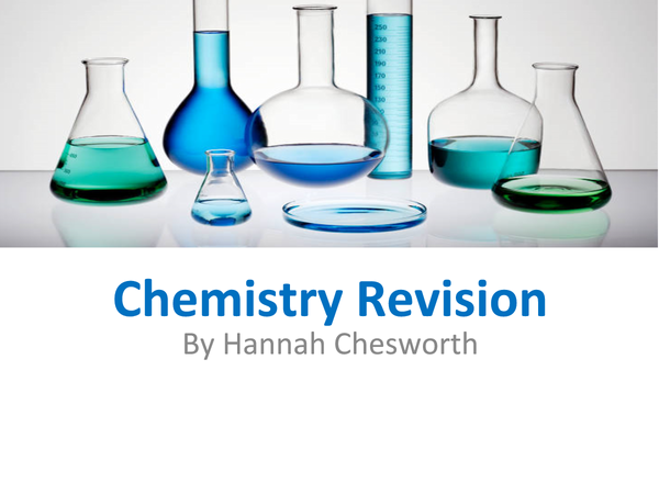 Preview of Chemistry WJEC unit 2 higher tier