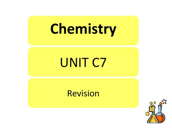 Preview of Chemitry C7 - Complete notes